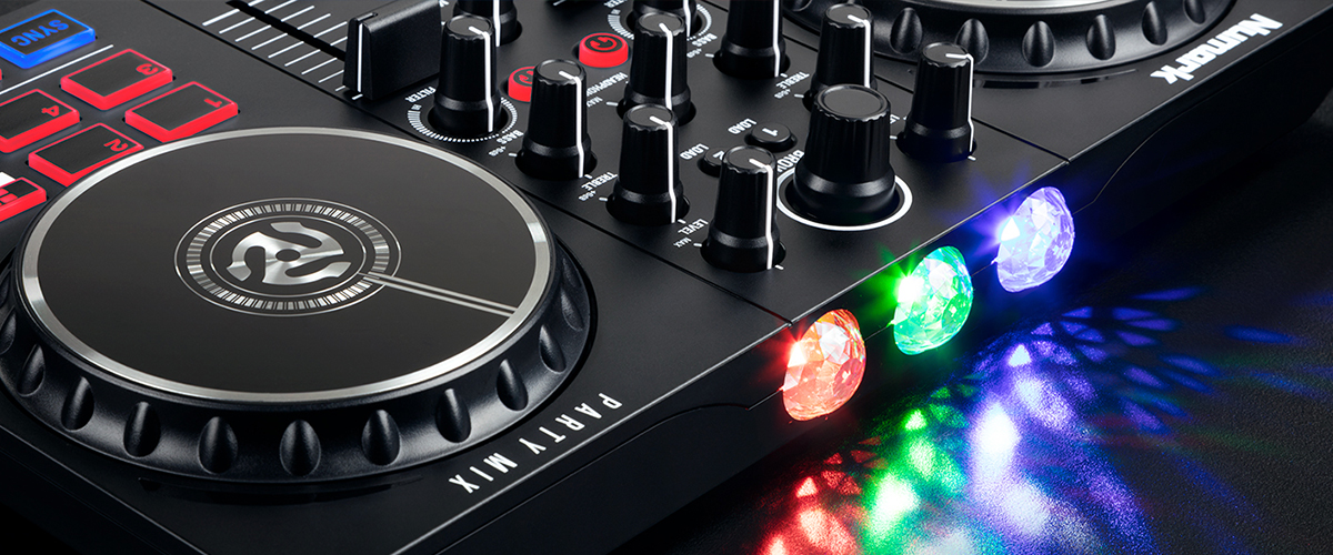 DJ controller with built-in light show