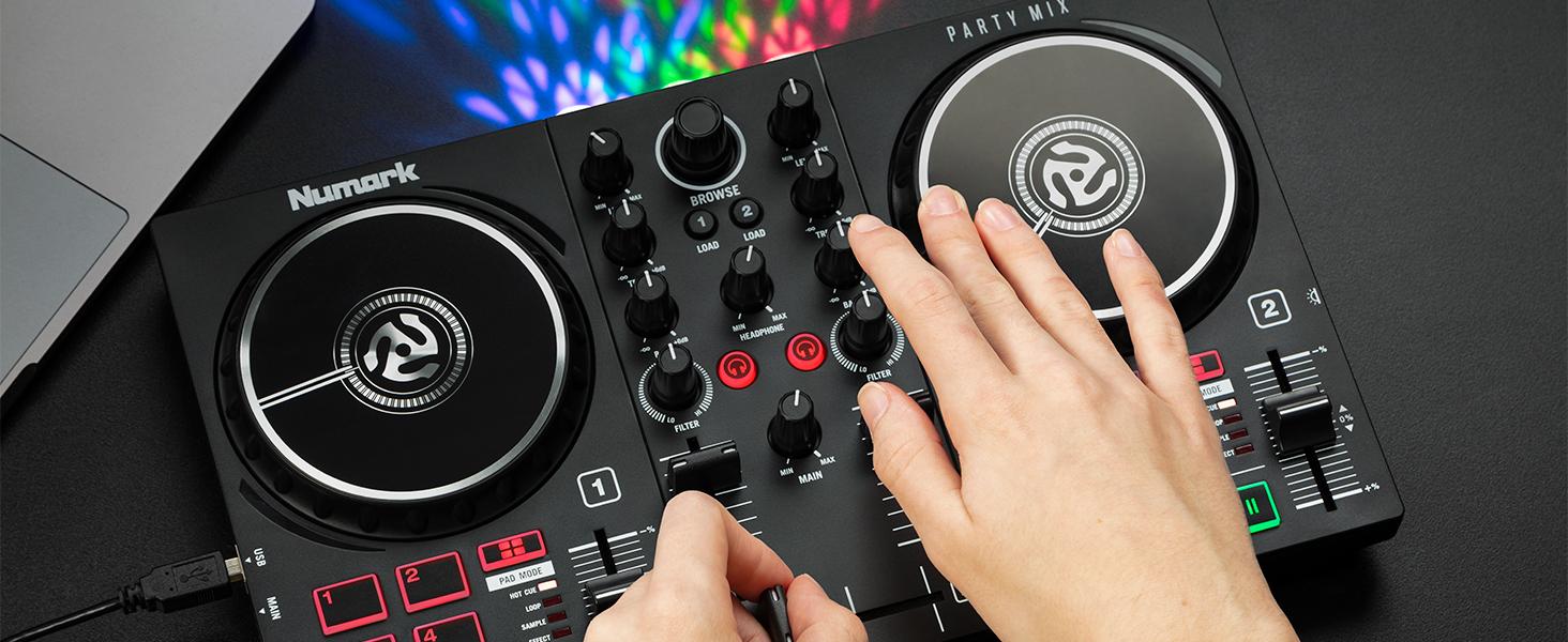 Numark Party Mix DJ controller with light show