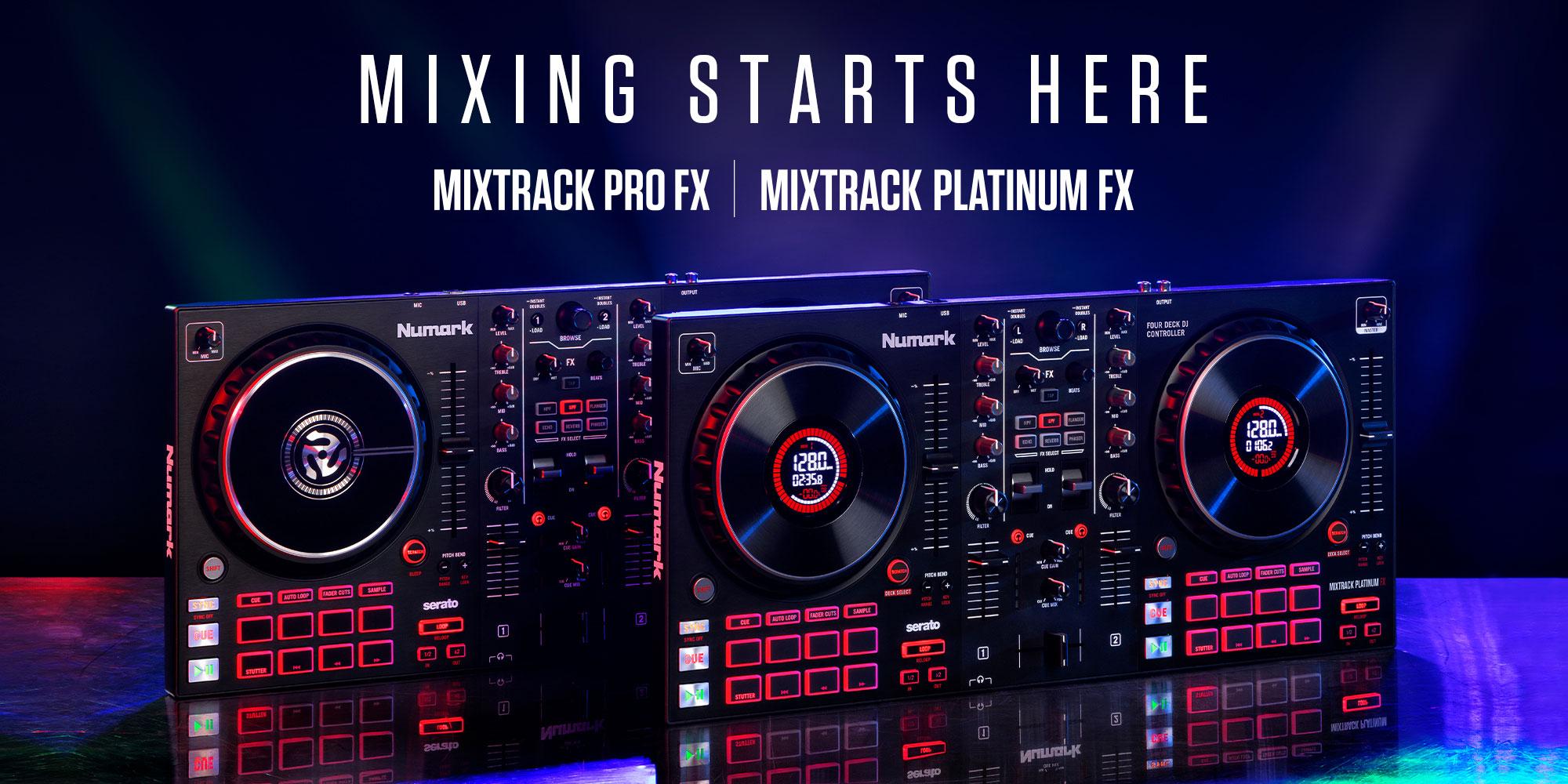 ה-Platinum FX -  שלט DJ כולל אפקטים, ממשק אודיו וסטרימינג מ-Numark